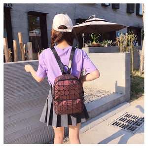 Chameleon Backpack Simple Style Travel Bag School Bag