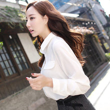 Load image into Gallery viewer, Fashion White Casual  Chiffon Blouse