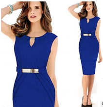 Load image into Gallery viewer, Summer Sleeveless Pencil Dress