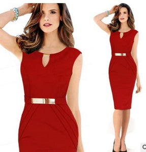 Summer Sleeveless Pencil Dress
