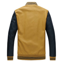 Load image into Gallery viewer, Stand Collar Pu Leather Coat Fleece Pilot Jacket