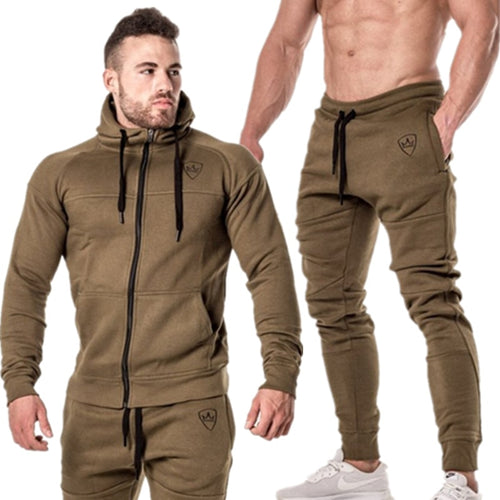 Men's 2 Piece Set Training Sport Suit Sweatshirt Sweatpants