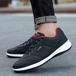 Men's Lace-Up Microfiber Leather Casual Shoes