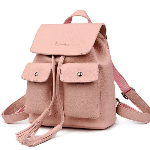 Fashion Tassel Girl Backpack