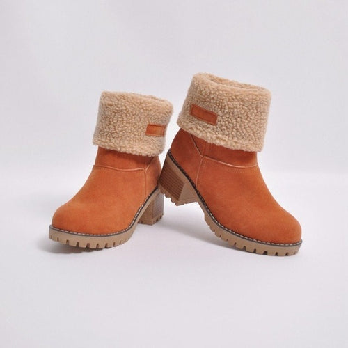 Women's Winter Snow Boots Plush Warm