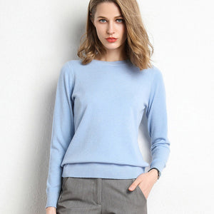 Sweater Pullover O Neck Winter Casual Knitwear