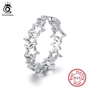 925 Sterling Silver Ring Cute Star Shape