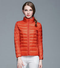 Load image into Gallery viewer, Stand Collar Ultra Light Duck Down Winter Jacket