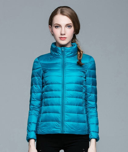 Stand Collar Ultra Light Duck Down Winter Jacket