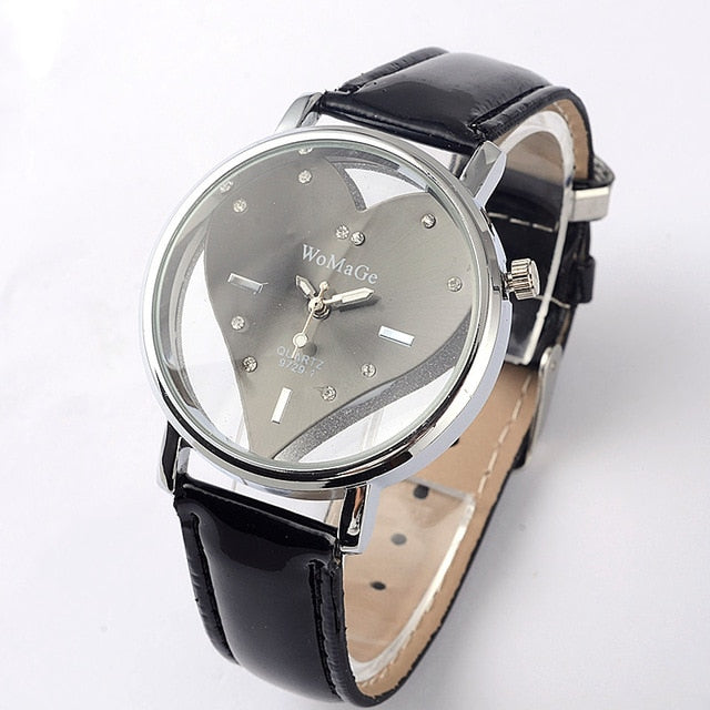 Stainless Steel Heart Quartz Watch