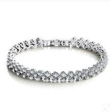 Load image into Gallery viewer, Zirconia Roman Chain Bracelet
