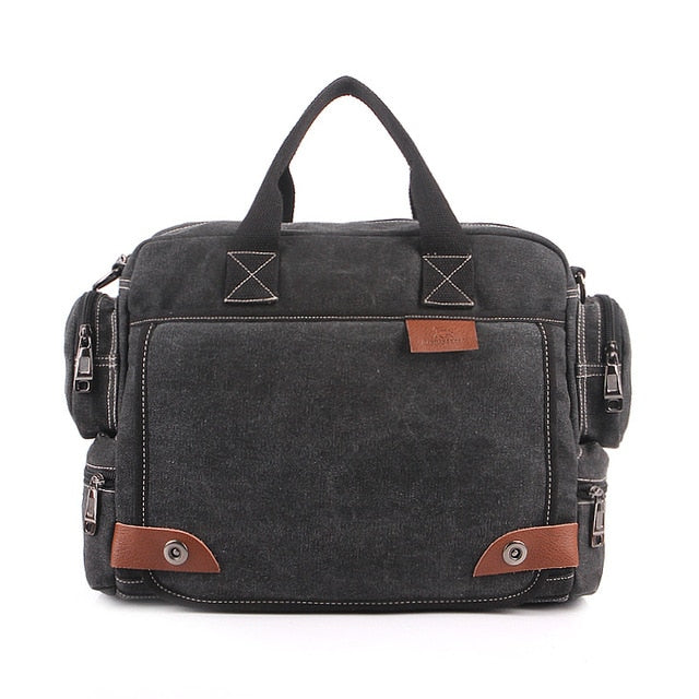 Fashion Canvas Messenger Laptop Briefcase