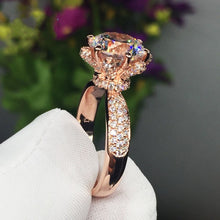 Load image into Gallery viewer, 925 Sterling Silver Rose Gold Ring