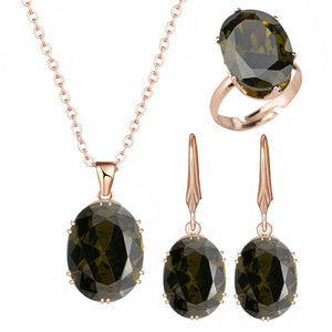 Quality Cubic Zirconia Stones Jewelry Set