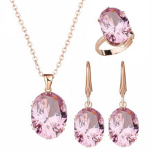 Load image into Gallery viewer, Quality Cubic Zirconia Stones Jewelry Set