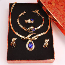 Load image into Gallery viewer, African Fashion Crystal Beads Gold Color Fine Jewelry Set