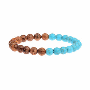 Natural Wood Beads Ethnic Bracelet
