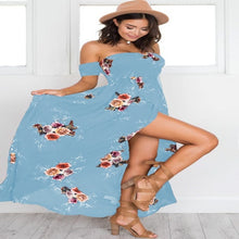 Load image into Gallery viewer, New Print Maxi Dress Women Sexy Side Split Summer Dress