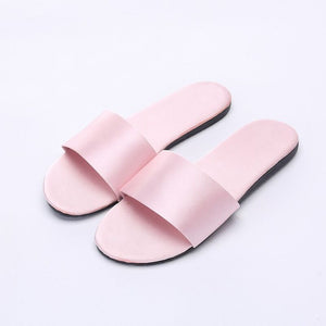 Silk Fabric Indoor Slippers