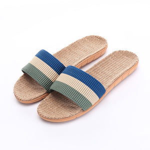 Striped Indoor Canvas Slippers