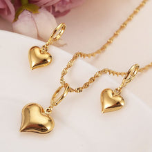 Load image into Gallery viewer, Gold Pendant Necklace/Earrings Jewelry Set For Women