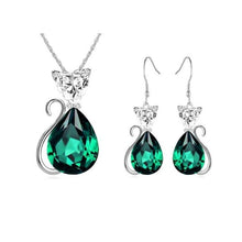 Load image into Gallery viewer, Vintage Crystal Earrings Jewelry Set