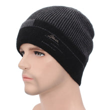 Load image into Gallery viewer, Men's Knitted Warm Beanie Hat