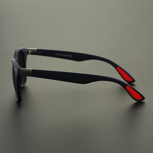 Polarized Goggle Style Square Frame Sunglasses