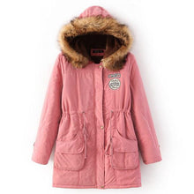Load image into Gallery viewer, Winter Hooded Coat Thickening Cotton Winter Jacket Warm Parka