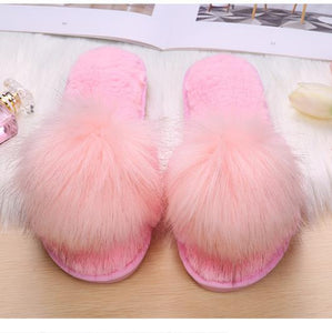Faux Fur Style Autumn Slippers