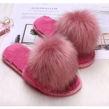 Load image into Gallery viewer, Faux Fur Style Autumn Slippers