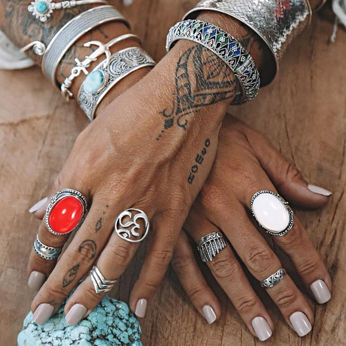 7pcs Vintage Fashion Rings