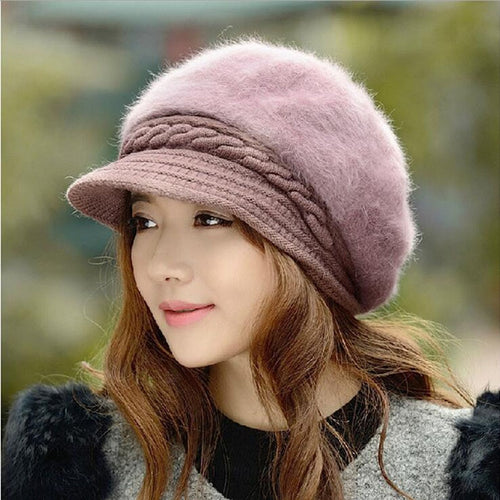 Fashion Winter Rabbit Fur Cap Beanie
