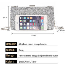Load image into Gallery viewer, Evening Clutch Bag Diamond Crystal Sequin Purse