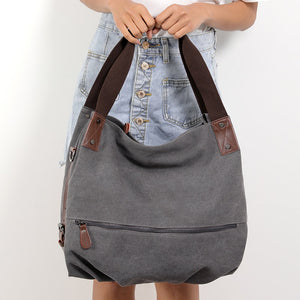 Large Tote Canvas Vintage Bag