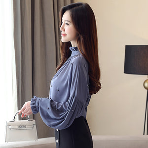 Fashion Chiffon Turtleneck Top