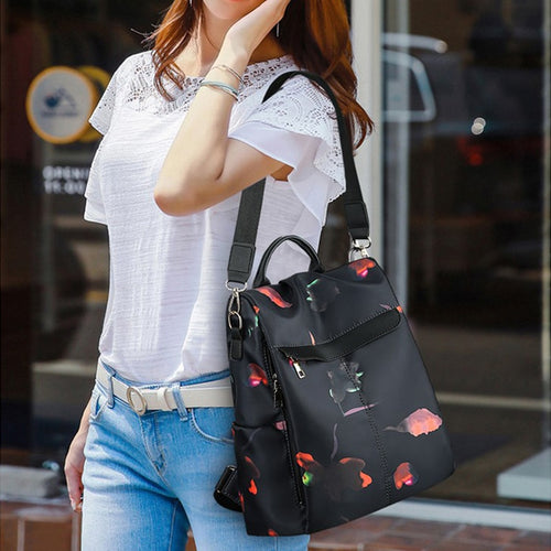 Casual Women's Classic Anti-theft Knapsack Black Backpack
