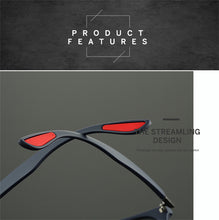 Load image into Gallery viewer, Polarized Goggle Style Square Frame Sunglasses