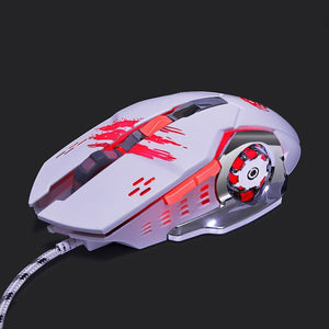 Computer Gaming Mouse Adjustable Wired Optical LED Laptop USB Cable Mouse
