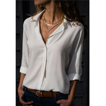Load image into Gallery viewer, Casual Long Sleeve Chiffon Blouse