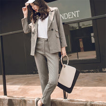 Load image into Gallery viewer, Casual Blazer & High Waist Pant Suits 2 Pieces Set