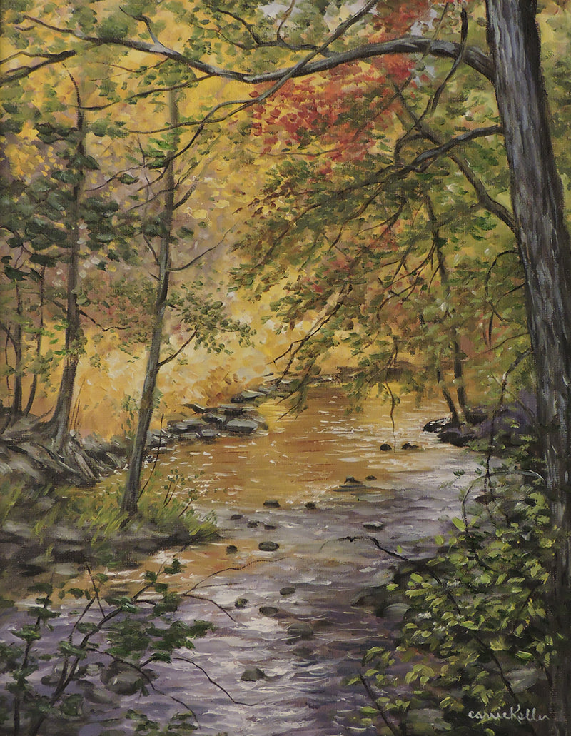 Fall River - Oil on Canvas