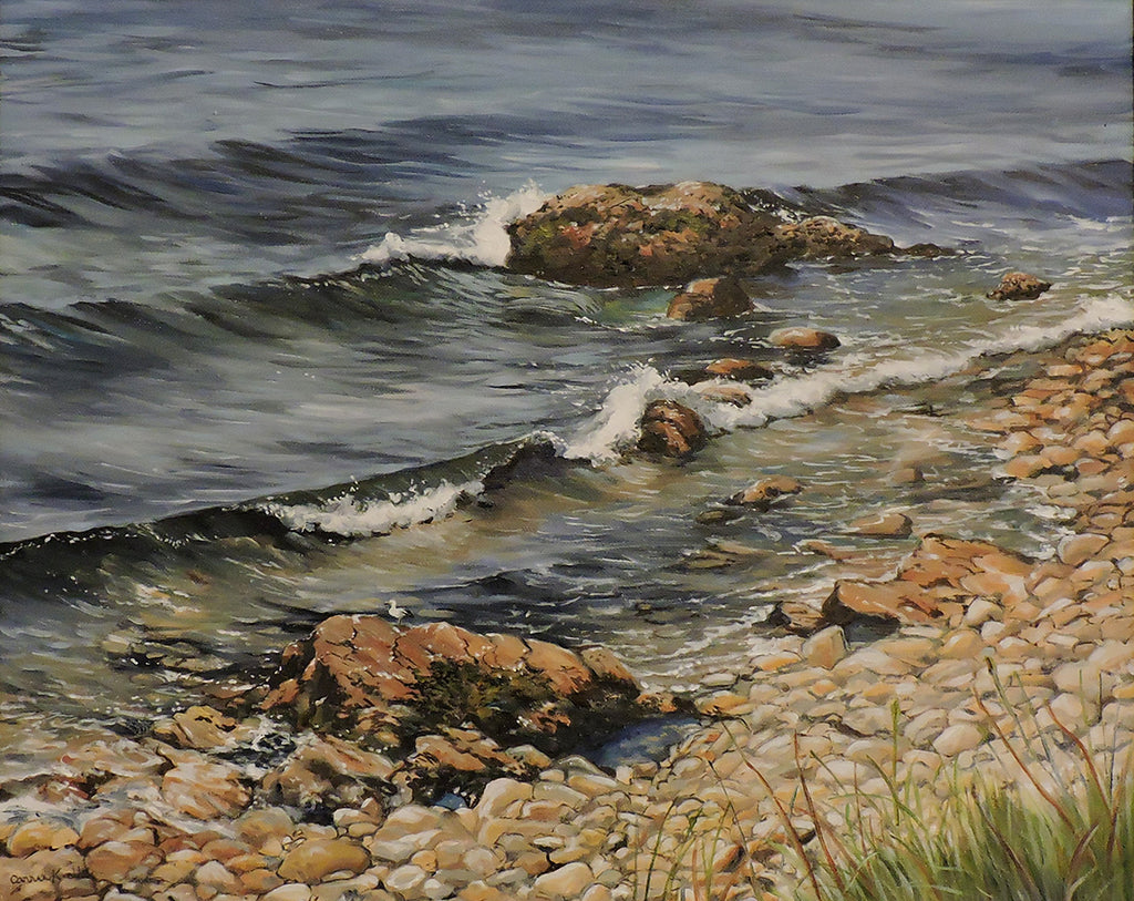 West Coast Shore - Oil on Canvas