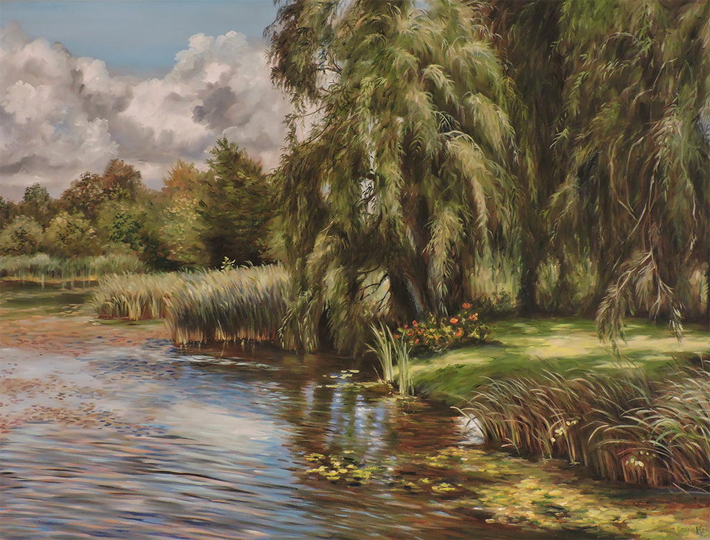 Rideau Willows - Oil on Gallery Wrapped Canvas