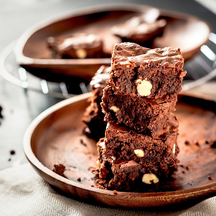 BROWNIE DE CAFÉ Y NUECES