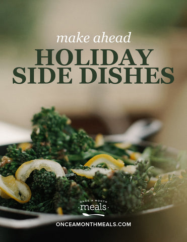 Freezable Side Dishes for the Holidays