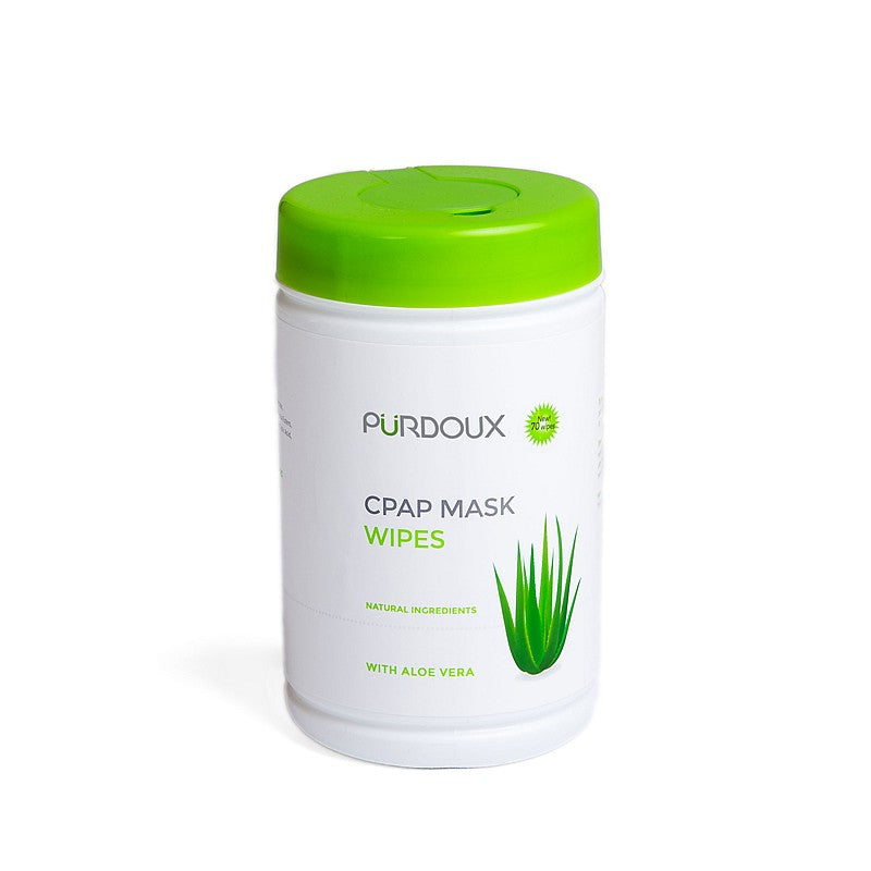 Purdoux Aloe Vera (Unscented) CPAP Mask Wipes (Canister)