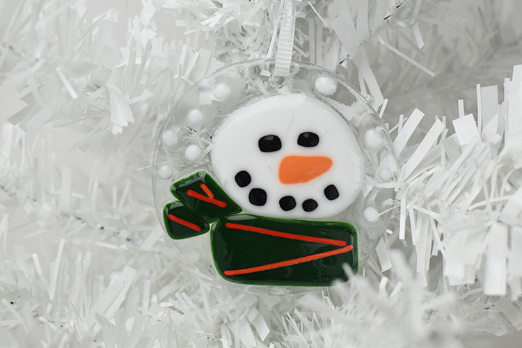 Glass Christmas ornament snowman (10AR519)