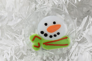 Glass Christmas ornament snowman (10AR719)