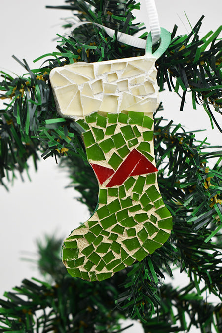 Stocking ornament green (11AR119)